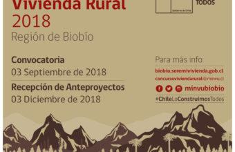 Concurso Vivienda Rural 2018 - Región del Biobío