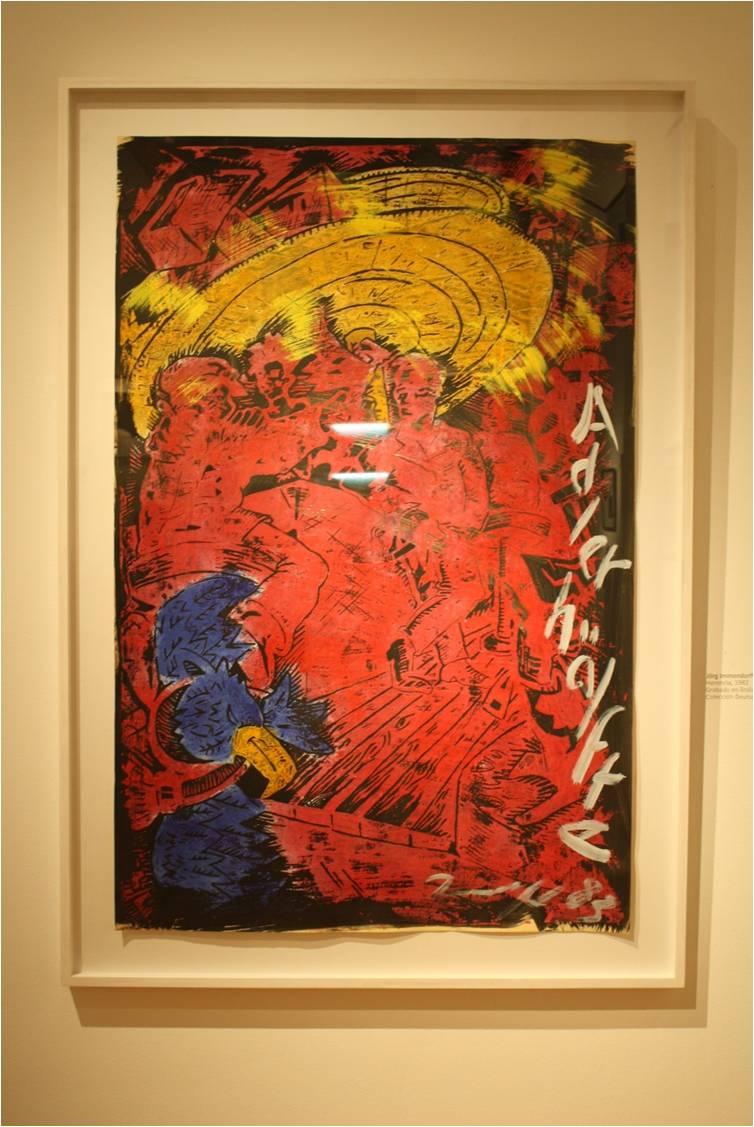 Grabado.Exposición Beuys.Mavi.