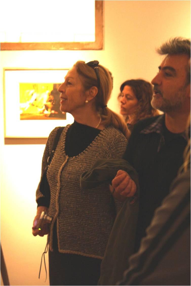 Arturo Duclos junto a Maya Castro que se unió a la visita de la Escuela.