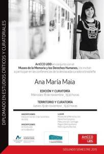 Ana María Maia, destacada curadora brasilera, visita Chile en el marco del Diplomado en Estudios Críticos y Curatoriales ArtCCO UDD.